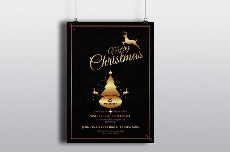 Editable Christamas Invitation Template