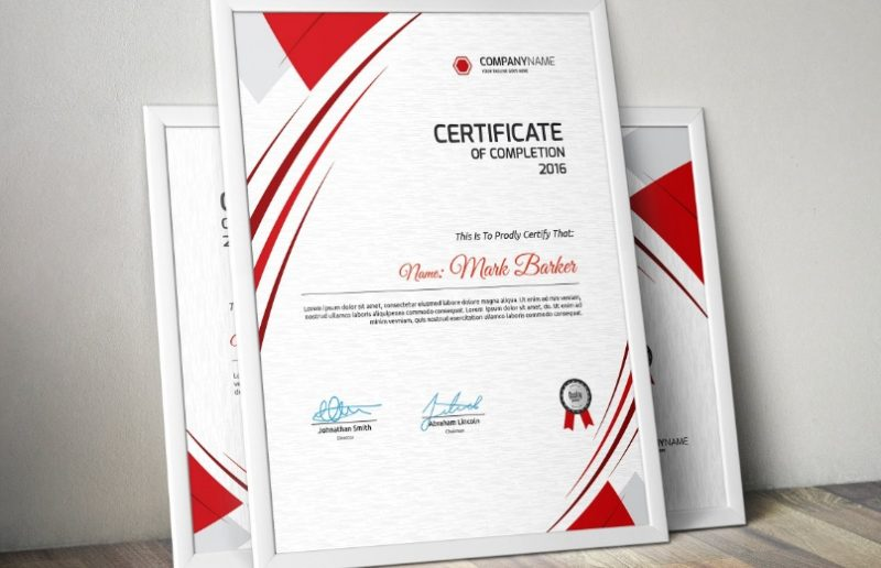 Editable Completion Certificate Template
