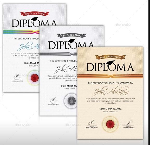 Editable Diploma Certificate Template