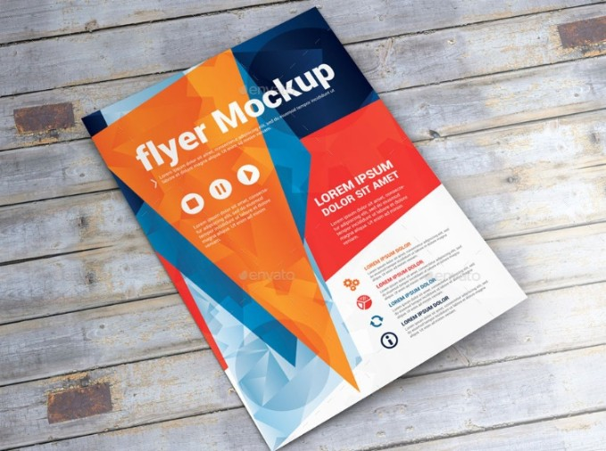 Editable Flyer Mockup PSD