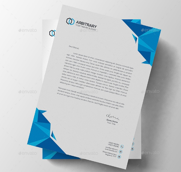 Free Photoshop Letterhead Templates: 11+ Letterhead Template PSD, Word For Business