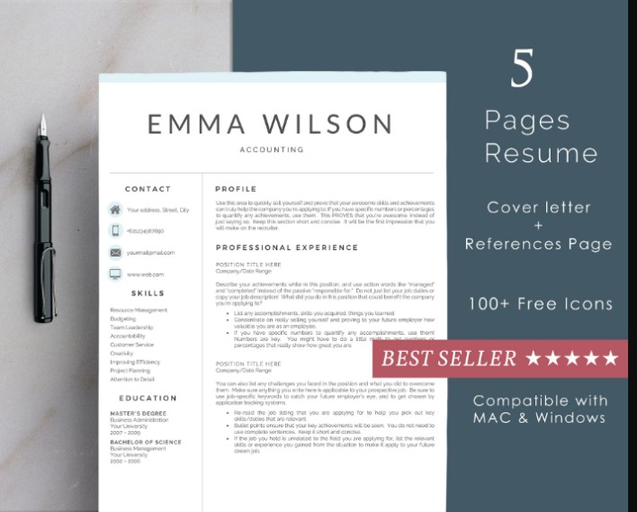22+ Teacher Resume Template Designs - EPS, AI, PSD, Word
