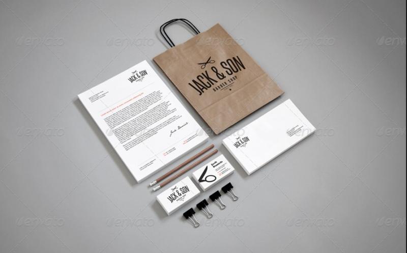 Elegant Branding Mockup PSD