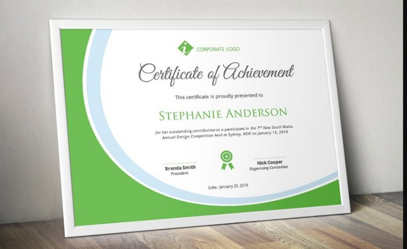 Elegant Certificate of Achievement Template