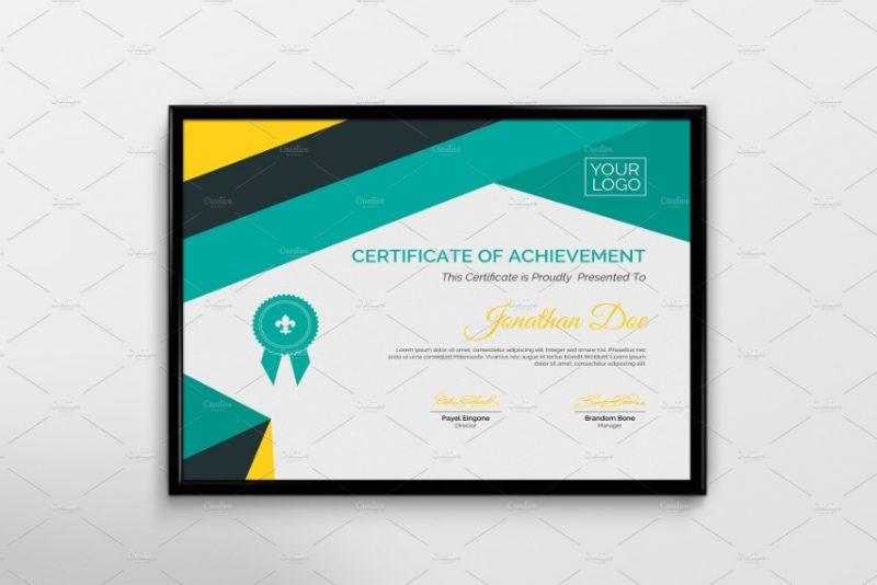 Elegant Diploma Certificate Template