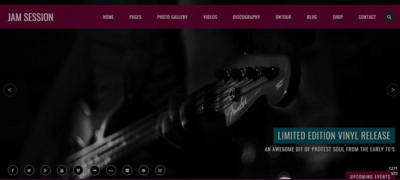 Elegant Music WordPress Theme