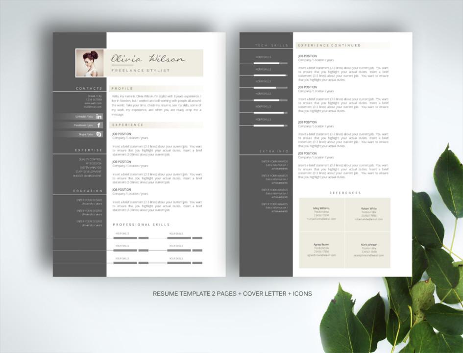 Elegant Web Designer Resume Template