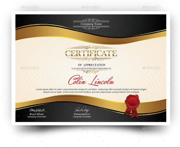 Employee Award Certtificate Template