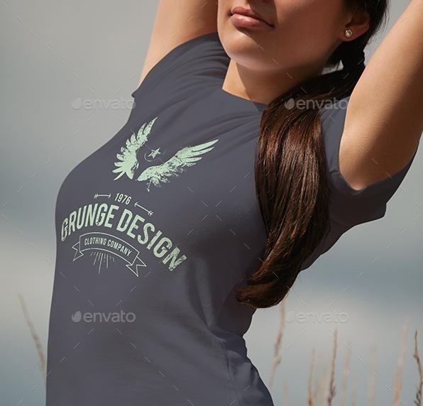 Female T Shirt Mockup