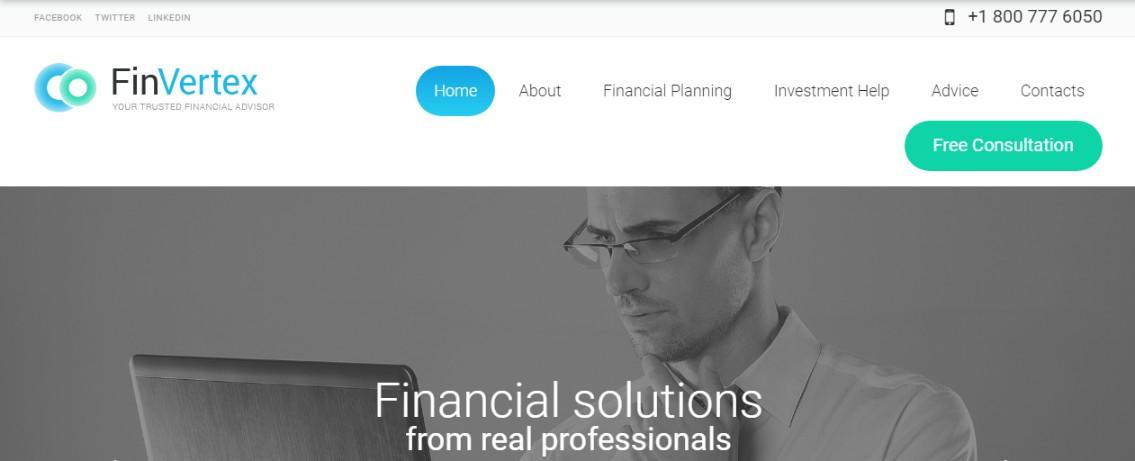 Financial Advaiser WordPress Theme