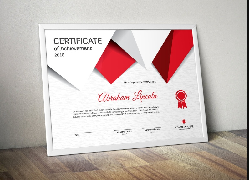 Fully Layered Achievement Certificate