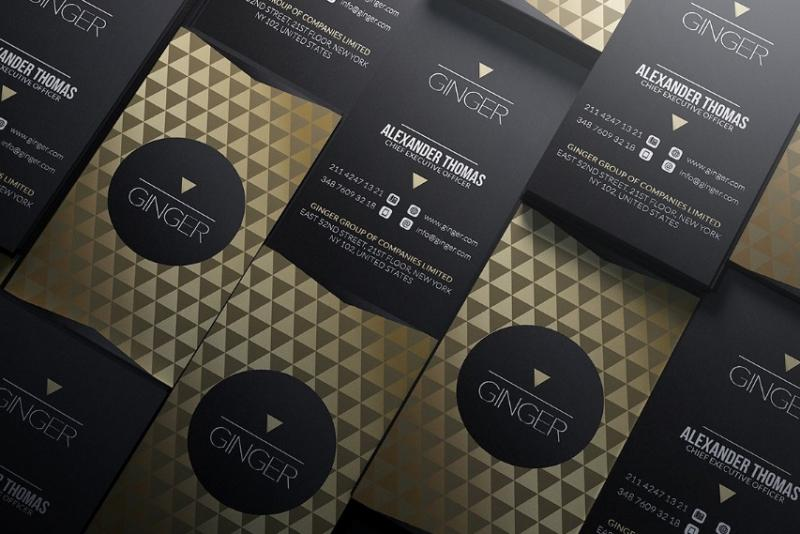 Gold and Black Stationary Template