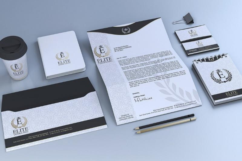 Gold and White Stationary Template