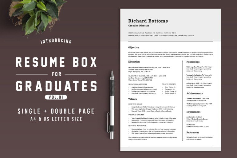 10  college resume template ms word  psd and pdf format