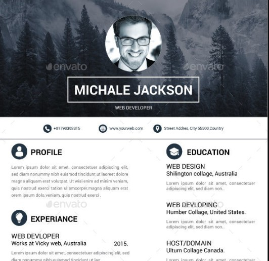 Hipster Infographic Resume Template