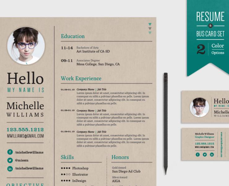 Hipster Web Developer Resume Template
