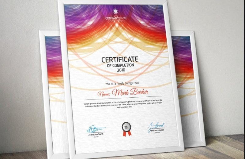 Horizontal and Vertical Certificate Template