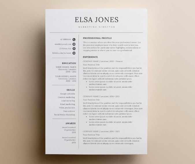 I T Resume Template
