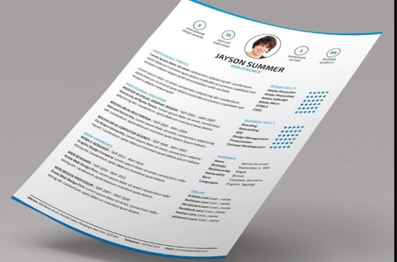 InDesign Executive Resume Template