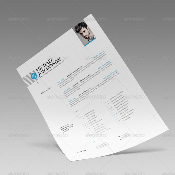 InDesign Web Design Resume Template