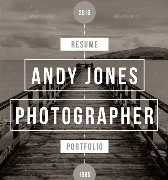 Infographic Photographer Resume Template