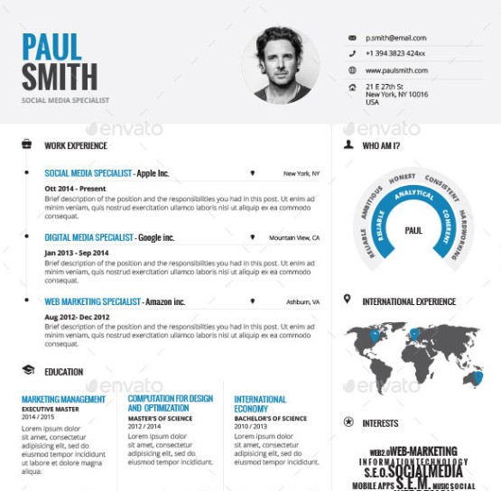 Infographic Resume CV Template