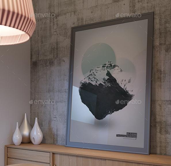 Interior Frames Mockup PSD