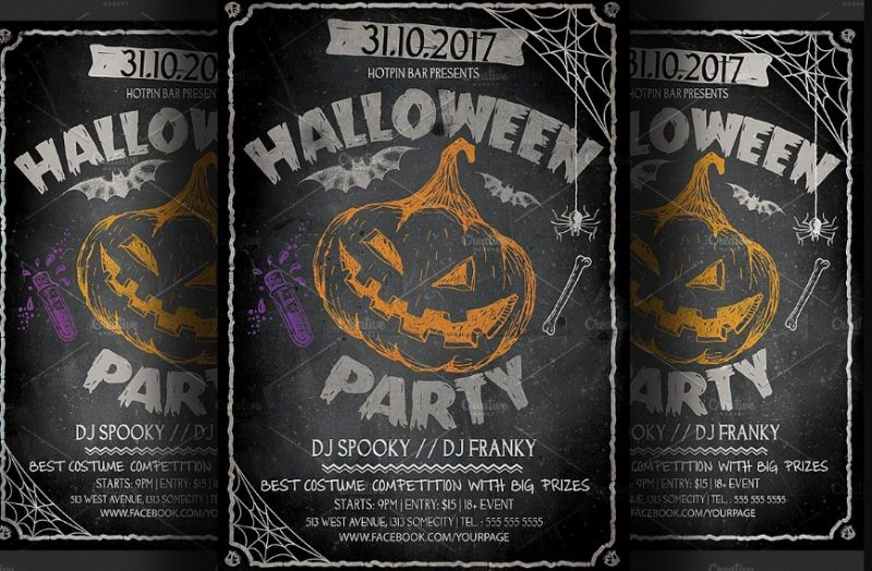 Labelled Halloween Invitation Template