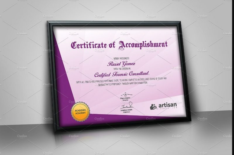 Landscape Certificate of Attendace Template