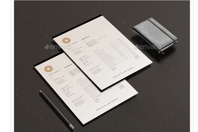 Layered Commercial Invoice Template