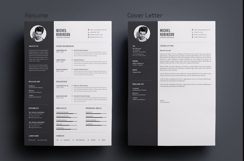 20  Resume Cover Letter Template Word  Eps  Ai And Psd