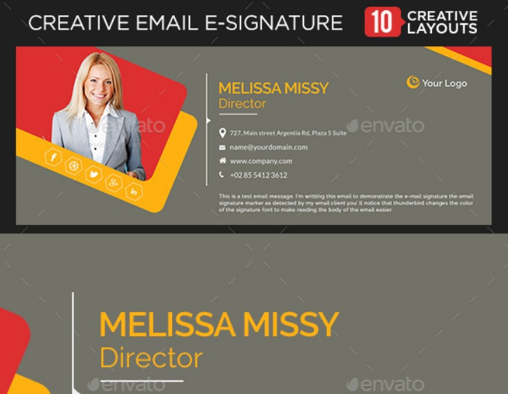 Layered Email Signature Template