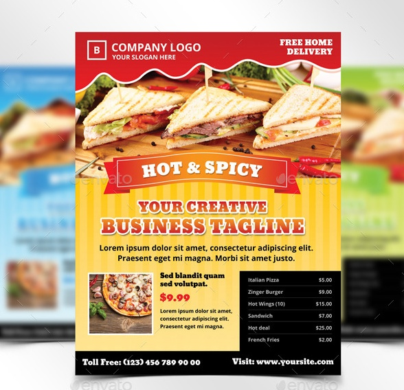 Layered Food Flyer Template