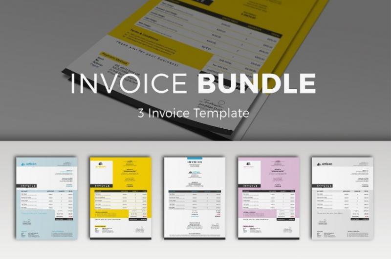 Layered Invoice Template Bundle
