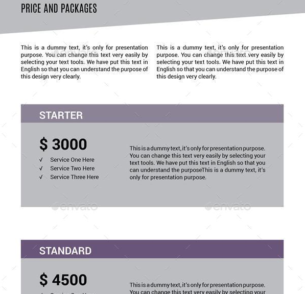 Layered Sales Proposal Template