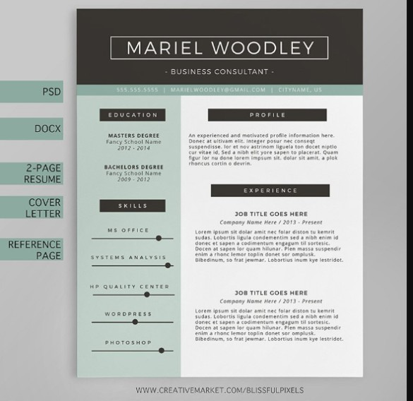 Layered Sales Resume Template