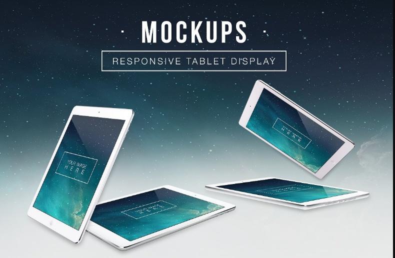 Layered Tablet Mockup PSD