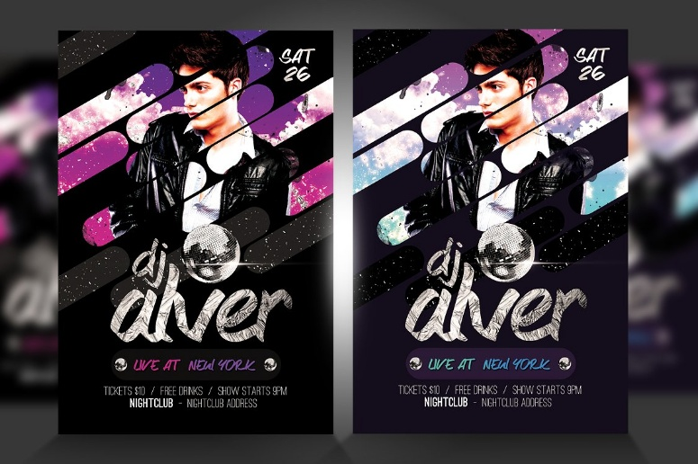 Live DJ Party Flyer Template