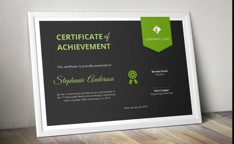 MS Word Certificate Template Word