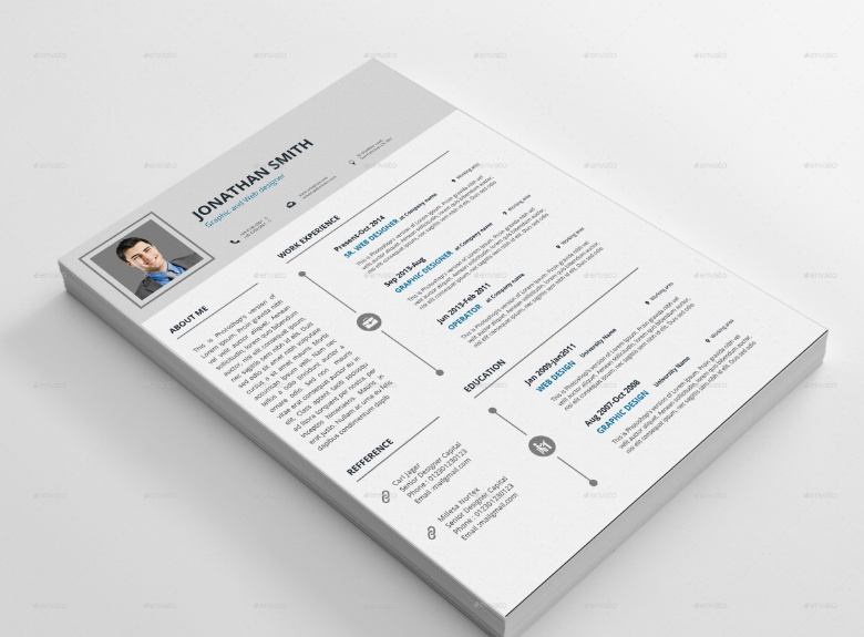 MS Word Clean IT Resume Template