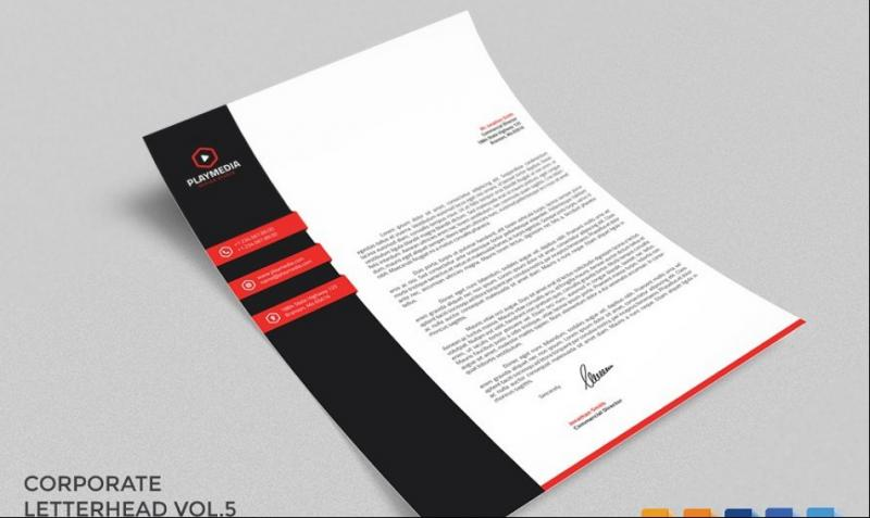 MS Word Coprorate Letterhead Template