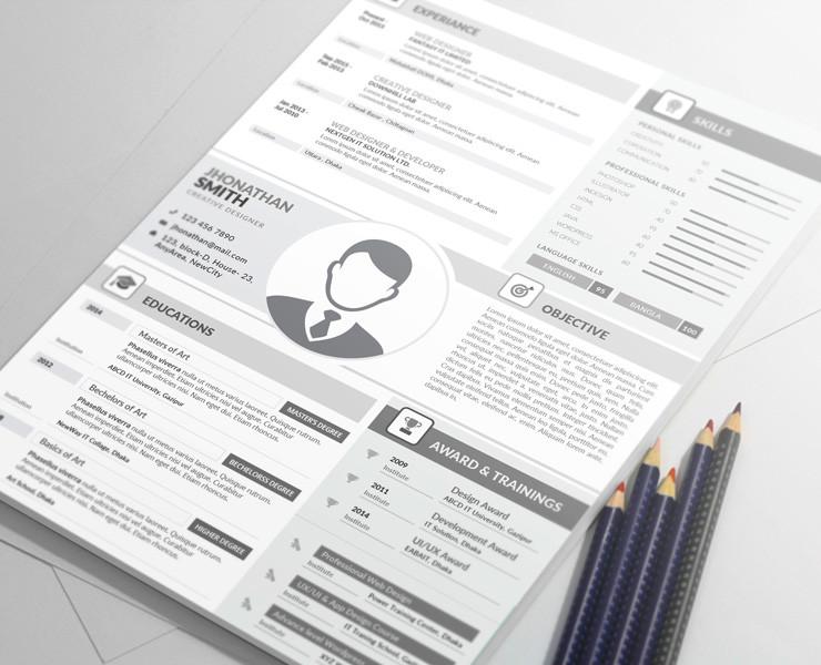 MS Word Web Developer Resume Template