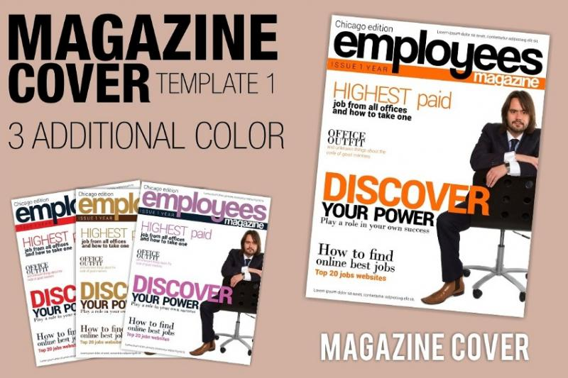 Magazine Cover Layout PSD