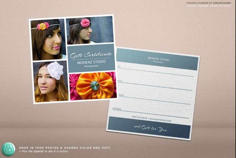 Marketing gift Certificate Template