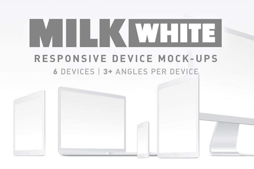 Milk White Device Mockup