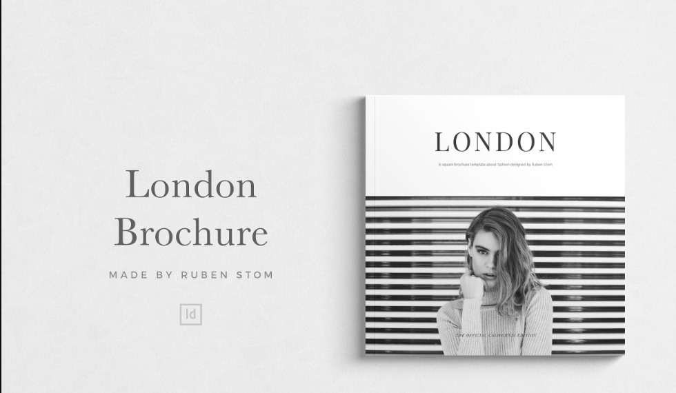 Minimal Square Brochure Template