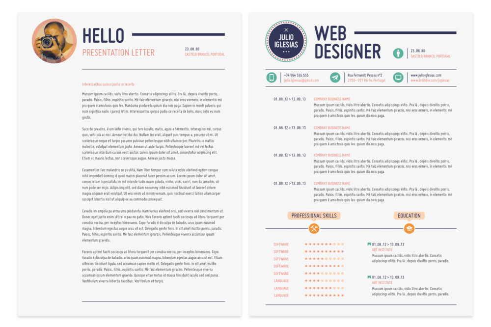21  web designer resume templates - indesign  psd  ms word  ai format