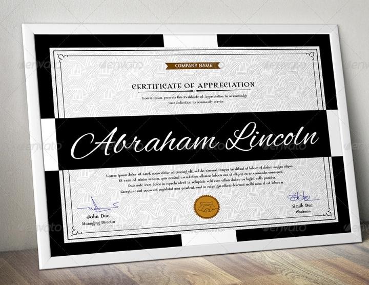 Modern Certificate of Appreciation Template