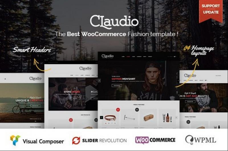 Modern E Commerce WordPress Theme