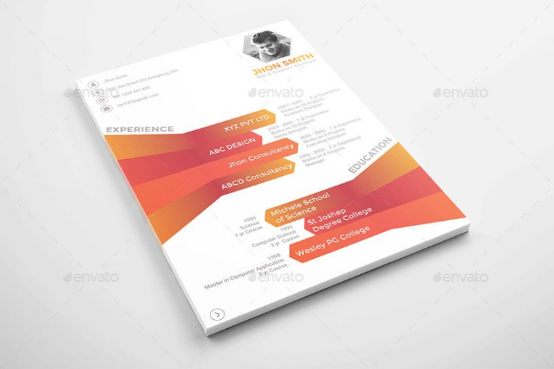 Modern Info Graphic Resume Template